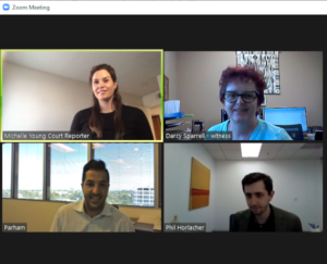 Remote Depositions - Zoom Meeting